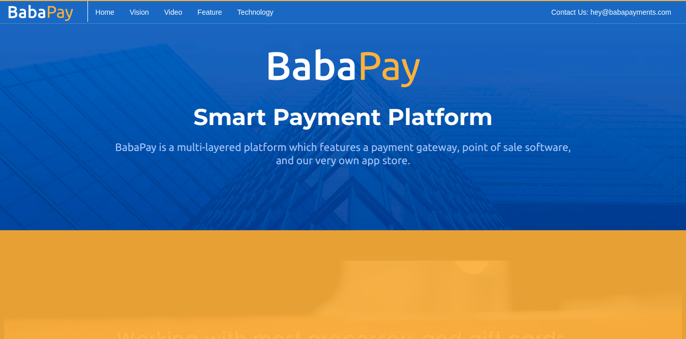 baba pay desktop snapshot