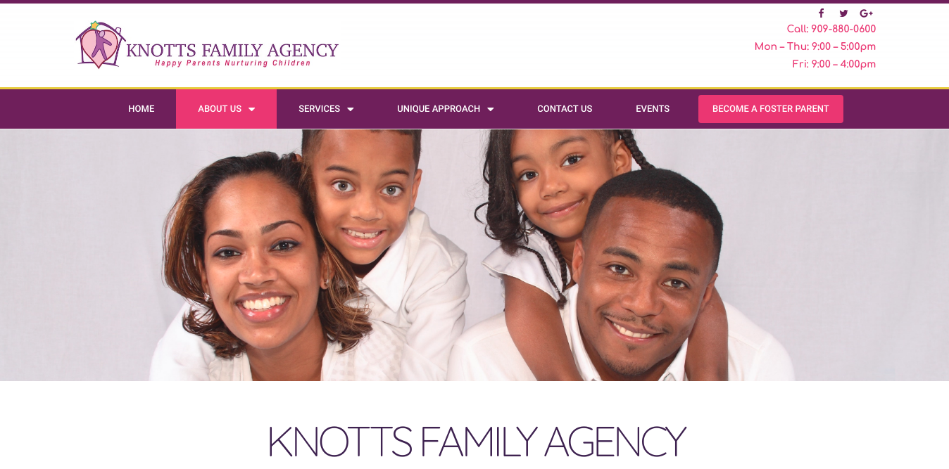 knotts family agency desktop snapshot